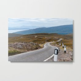 Scotland: Narrow single-track road Metal Print