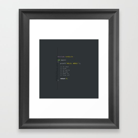 programmer's choice, C nerd. Framed Art Print