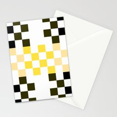 Yellow Pixel Stationery Cards