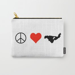 Peace LOVE Crooked Lake Carry-All Pouch
