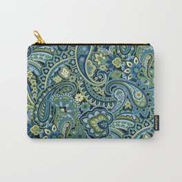 Paisley Forest Green Carry-All Pouch