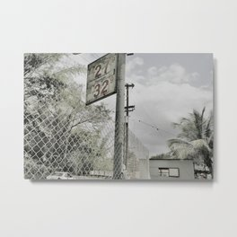 gas station Metal Print