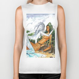 PNW Fishnets - Earth and Sky Goddess Kiss Painting Biker Tank