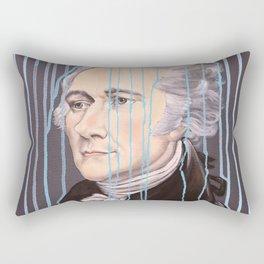 Blue Drip Alexander Hamilton Rectangular Pillow