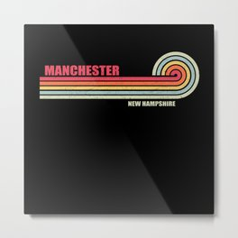 Manchester New Hampshire City State Metal Print