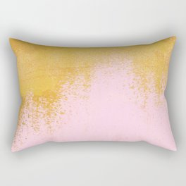 Gold Rush - Pink Rectangular Pillow