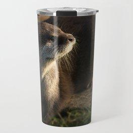 Otter Looking Into The Sunshine Travel Mug