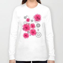 PEPPER POPPIES | fuschia Long Sleeve T-shirt