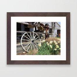Rustic Farm Scene Framed Art Print