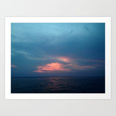 Ocean Sunset Art Print