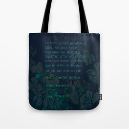 """""""Conquest of the Useless"""" by Werner Herzog Print (v. 4) Tote Bag"""