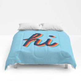 Hi - blue version Comforters