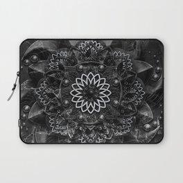 Black Marble Mandala Laptop Sleeve