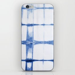 Shibori Blue - Rectangles iPhone Skin