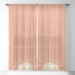 Sunrise pink Sheer Curtain