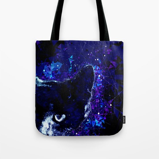 Astro Cat - Geometric Cat Abstract Art Tote Bag