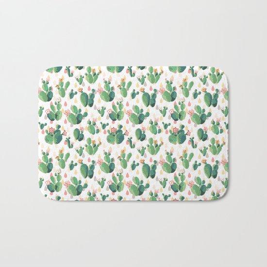 Cactus Drops Bath Mat