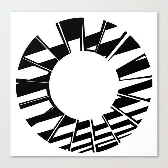 Ring Map 5 Canvas Print