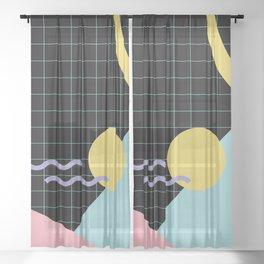 Memphis Pattern 7 - 80s - 90s - Retro Sheer Curtain