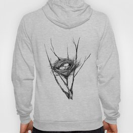 Bird Nest Ink Drawing Hoody