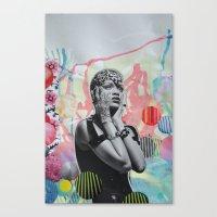 rihanna Canvas Prints featuring Rihanna by John Turck
