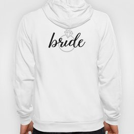 Bride with Diamond Ring (White Gold) Hoody