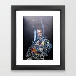 Grace Jones Mural Framed Art Print
