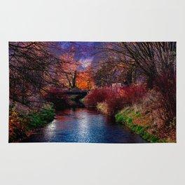 Concept Baden-Wuerttemberg : River Rottum through Laupheim Rug