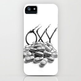 Pill Addiction. Oxycodone. iPhone Case