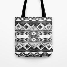 Southwest Pattern- Black & White Tote Bag