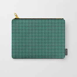 Tiffany Aqua Blue And Black Hounds-tooth Check Carry-All Pouch