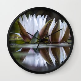 Water lily Wall Clock