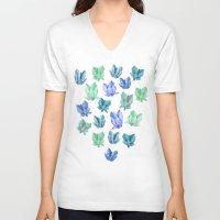 crystals V-neck T-shirts featuring Crystals by Marta Olga Klara