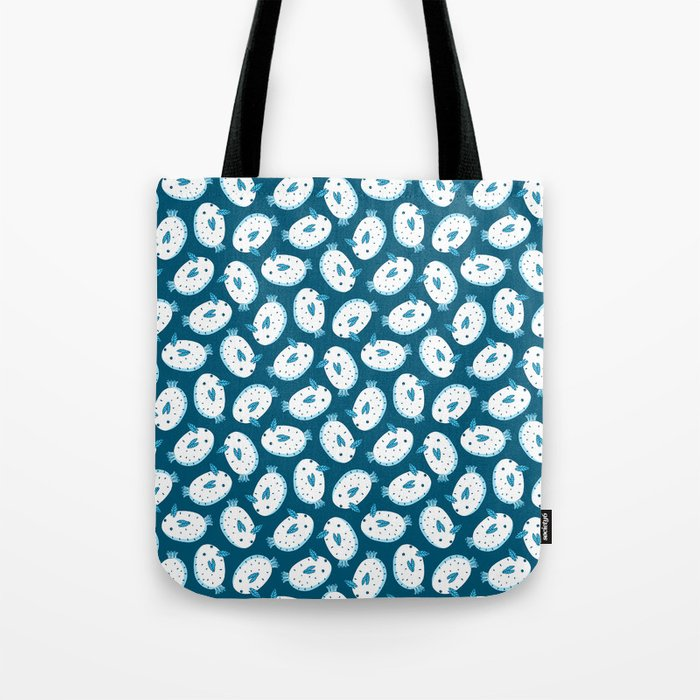 Sea Bunnies_Blue Tote Bag