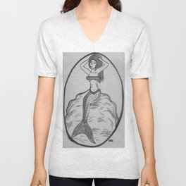 mermaid censored Unisex V-Neck