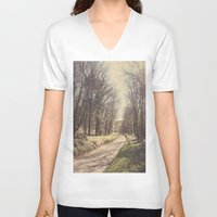 road V-neck T-shirts featuring Road ∆ by Visceral Angst