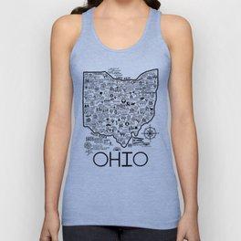Ohio Map Unisex Tank Top