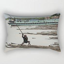 Boating in Bangladesh Rectangular Pillow