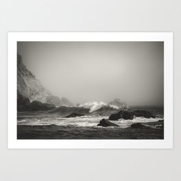 Into the waves VII Art Print