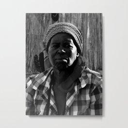 Zulu Woman at Home Metal Print