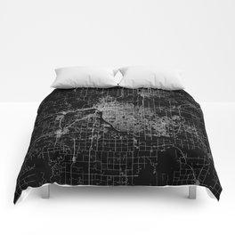 Tulsa map Oklahoma Comforters