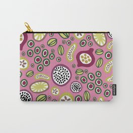 abstract fruit-salad  pink Carry-All Pouch