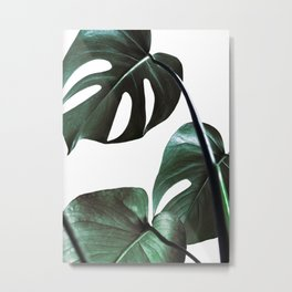 Monstera Leaf Print, Tropical Leaf Print, Modern Minimalist Wall Art Metal Print