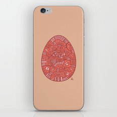 Red Mechanical Egg iPhone & iPod Skin