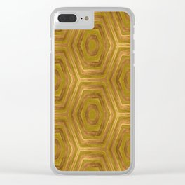 Golden - Cooper Geometric Abstract Clear iPhone Case