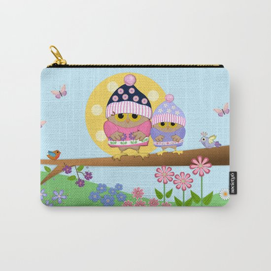 Spring owl in her new dress Carry-All Pouch
