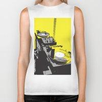 vinyl Biker Tanks featuring Vinyl by Akehworks