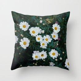FLOWER SPACE Throw Pillow