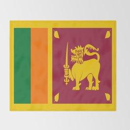 Flag of sri Lanka -ceylon,India, Asia,Sinhalese, Tamil,Pali,Buddhist,hindouist,Colombo,Moratuwa,tea Throw Blanket