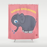 german Shower Curtains featuring Ellie (German) by Mishell